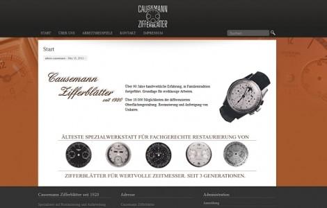 http://causemann-zifferblaetter.de/ Restauration von wertvollen Ziffernblättern Uhren - made by ImageCreation