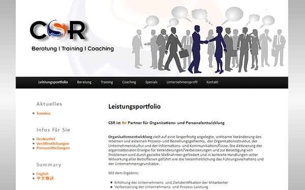 CSR Christa Spengler-Rast - Beratung - Training - Coaching - Bergisch Gladbach - www.csr-consulting.de- made by imageCreation.de