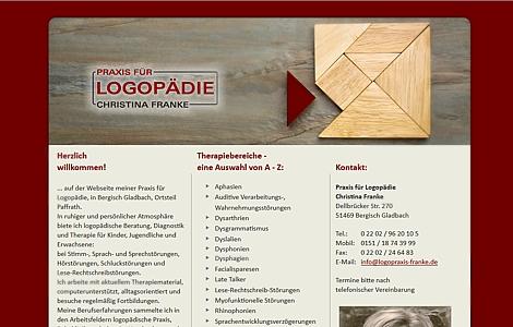 Praxis für Logopädie Christina Franke Bergisch Gladbach - www. logopraxis-franke.de - made by imageCreation.de