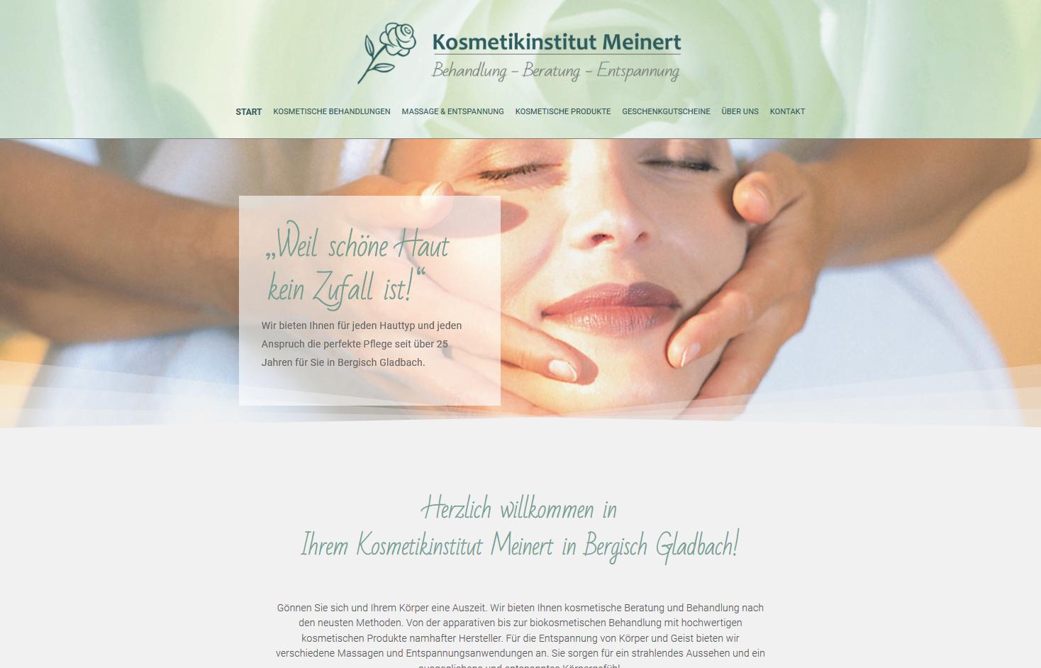 Kosmetikinstitut Meinert Bergisch Gladbach Webseite von www.imagecreation.de